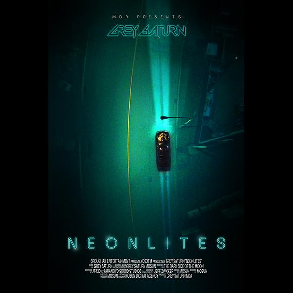 Neonlites Poster 2 Grey Saturn